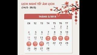 Thủ tướng quyết định lịch nghỉ dịp Tết Nguyên đán 2018
