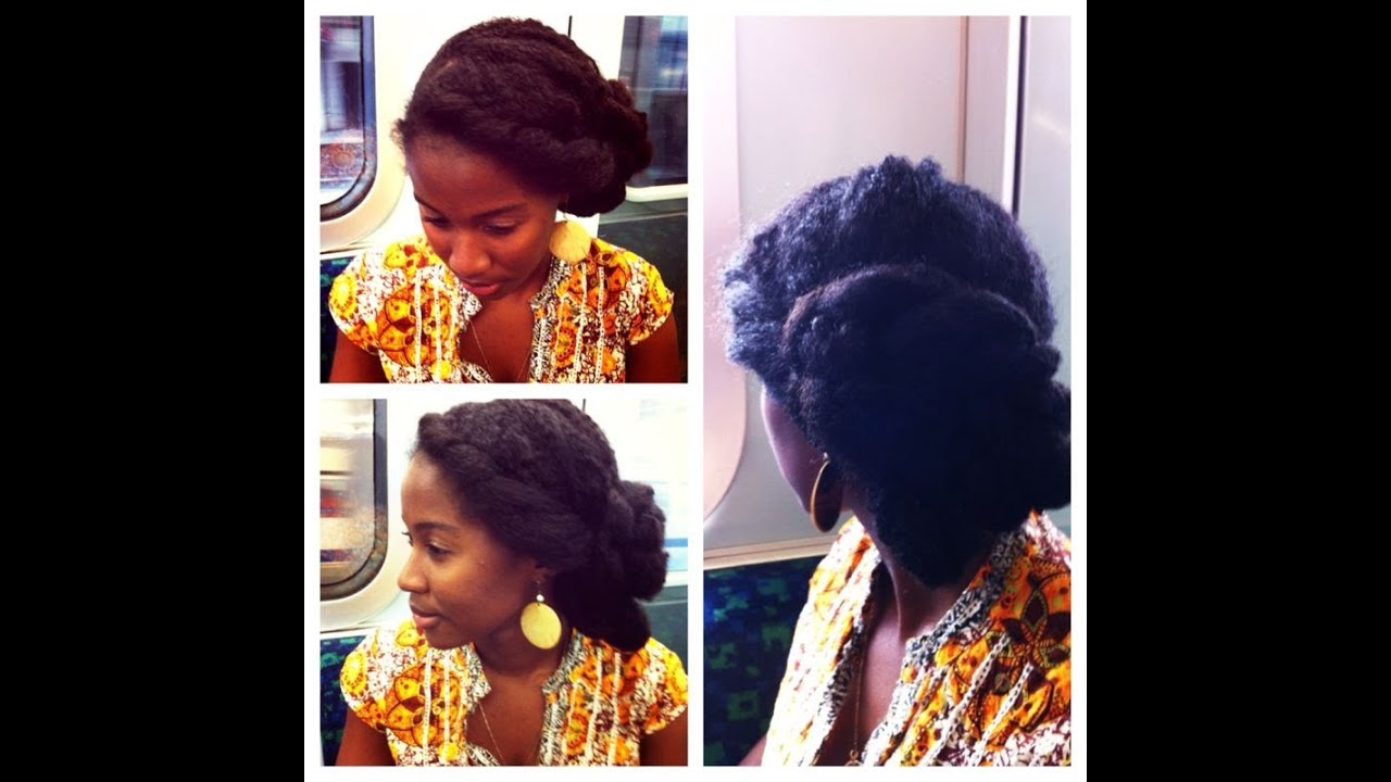 Natural Hair Easy Twisted Low Side Bun Tutorial Curly