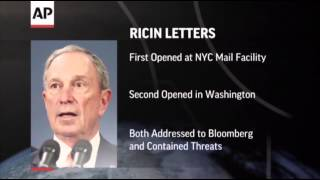 Ricin Letters Sent to Mayor Bloomberg  5/30/13