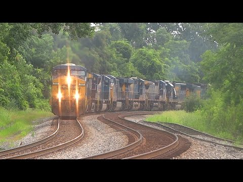 Nine Engine CSX Freight Train Carrying Some Good Luck