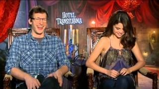 Andy Samberg and Selena Gomez Interview for HOTEL TRANSYLVANIA