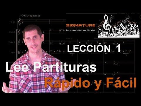 1.Como leer partituras Rápido y Fácil en Clave de Sol y Fa, pentagrama, Solfeo, Curso