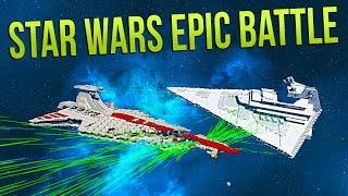 IMPERIAL STAR DESTROYER vs VENATOR (Star Wars EPIC Battle_ - Space Engineers Battle