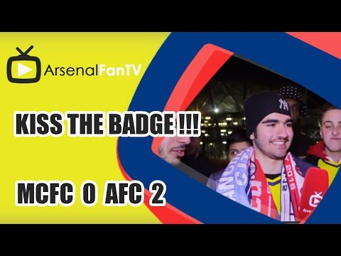 Kiss the badge !!! - Man City 0 Arsenal 2