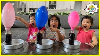 Easy DIY Science Experiment for Kids Blowing up Balloons with Rock Candy!