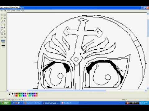 How to make a Chibi Rey Mysterio :3 Part 2 Here comes the mask again