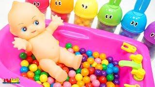 لعبة استحمام البيبي دول استحمام البيبي فى البانيو العاب بنات بيبي دول Baby Doll playing time