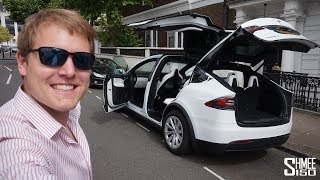 The Tesla Model X P100D has MAGIC DOORS!