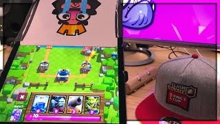 COVER HALF THE SCREEN - Nick vs Molt - Clash Royale Challenge