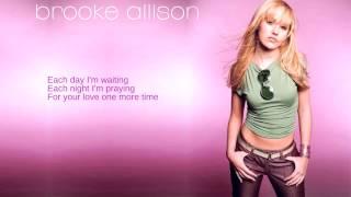 Watch Brooke Allison My Heart Goes Boom video