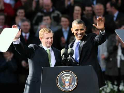 Enda Kenny reflects on Barack Obama's visit to Ireland