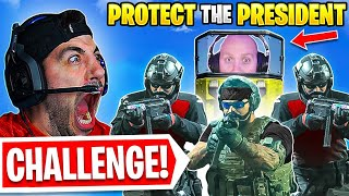 Protect The President CHALLENGE! 🤣 *HILARIOUS* (Modern Warfare Warzone)