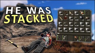 HE HAD EVERYTHING to UPGRADE MY BASE! - Rust Solo Survival #4