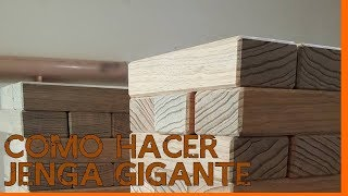 How to make a giant Jenga step by step | Como Hacer Jenga Gigante Paso a Paso