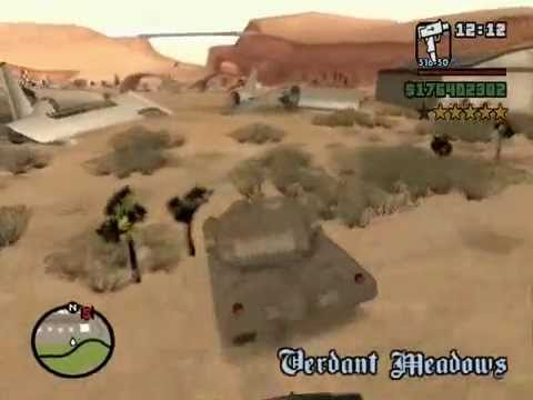 Grand Theft Auto San Andreas: Steal Tank Video