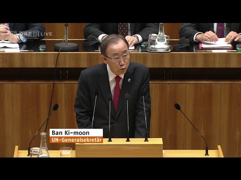 UNO Generalsekretär Ban Ki-moon im Nationalrat