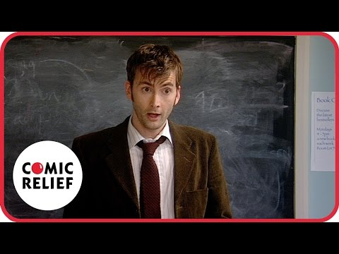 Lauren Cooper and Doctor Who clash in class - Classic Comic Relief