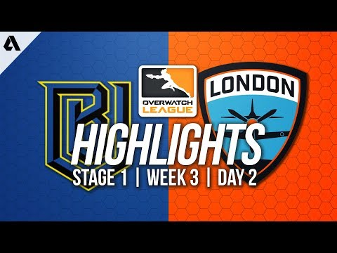 Boston Uprising vs London Spitfire ft. Gamsu Profit | Overwatch League Highlights OWL Week 3 Day 2