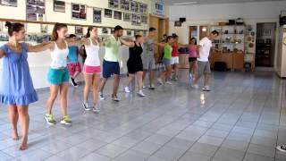 Corfu dancers rehearse the Zorba dance in Sinies