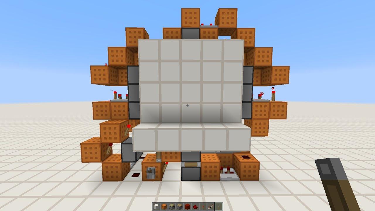 Minecraft Piston Door 3x3 3x3 Flush Piston Door