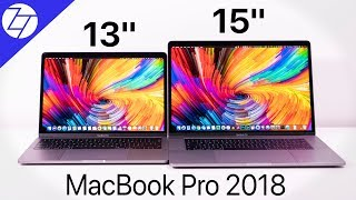 MacBook Pro 13 vs 15 (2018) - FULL Comparison!
