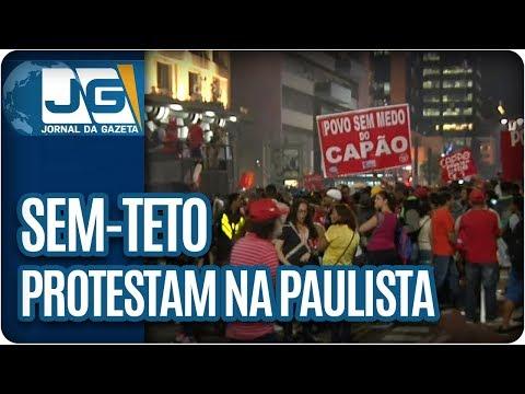 Sem-teto protestam na av. Paulista