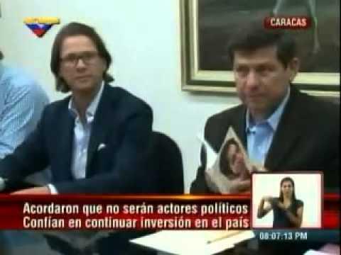 Lorenzo Mendoza  Reunion con el Gobierno Nacional