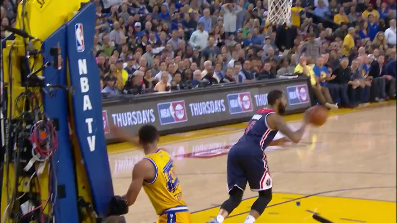 John Wall Denies Stephen Curry, Curry Comes Back with a Fast Break Jam