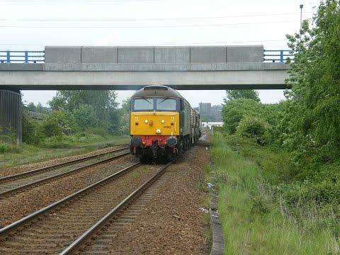 57002 & 57012 working 6M60 Seaton British Energy to Sellafeild BNF passing Metrocentre