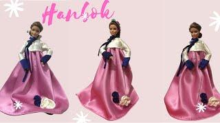 Hướng dẫn may Hanbok Hàn Quốc cho búp bê | How to make a Hanbok dress for dolls