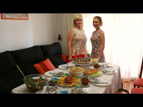 Как приготовить праздничный стол - видео