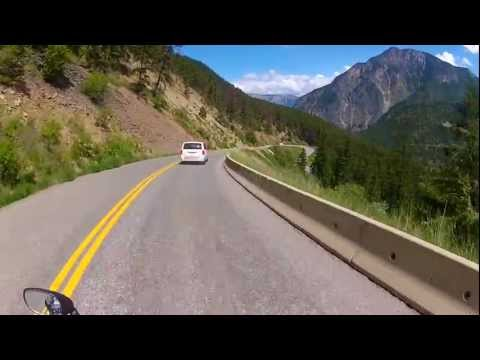 Highway 99 Into Lillooet, BC. Helmet Cam