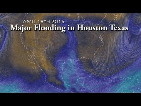 Major Biblical Flooding in Houston Texas with more Rain through Thursday