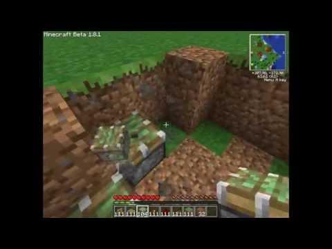 Minecraft 1.4.6 Как сделать автоматический мост на tubethe.com