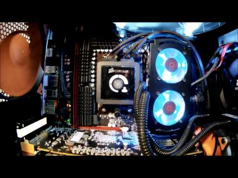 Corsair H100 Install in 600T case (UPDATE).wmv