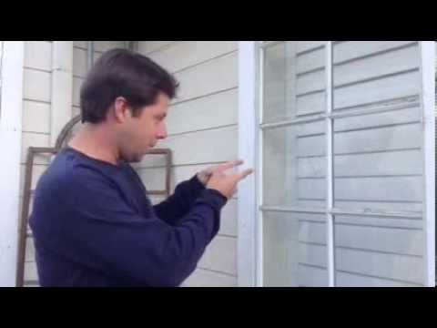 How To Repair A Broken Window In An Aluminum Frame Youtube