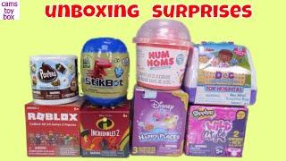 Surprises Toys Unboxing Num Noms StikBot Incredibles 2 Roblox Poopez Disney Happy Places Fun Kids