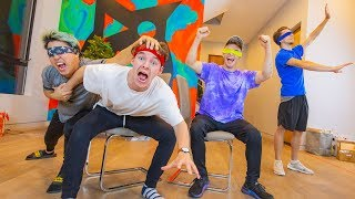 BLINDFOLDED MUSICAL CHAIRS!! (GONE WRONG)