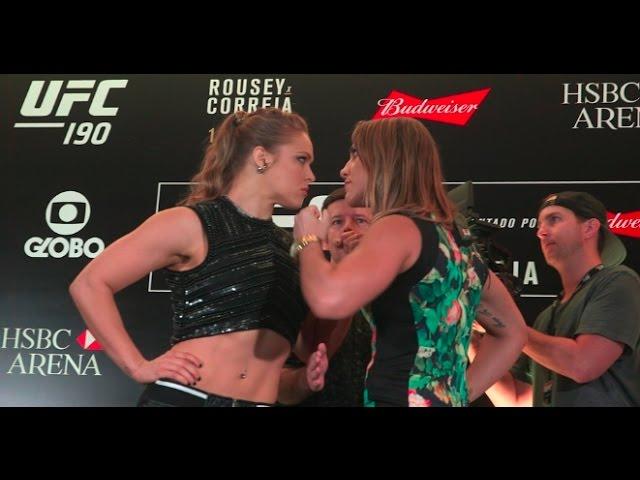 UFC 190: Ronda Rousey vs Bethe Correia Media Day Faceoff