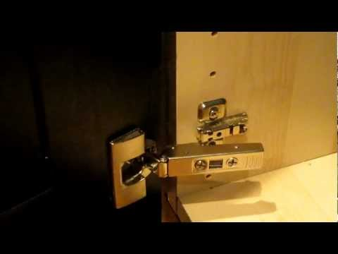 IKEA INTEGRAL Kitchen Cabinet Door Hinge. How to clip and unclip and install.