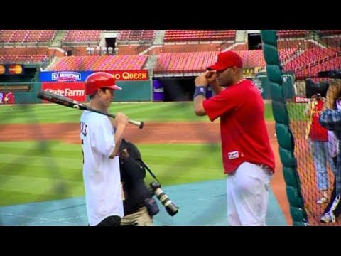 My Wish: Albert Pujols Takes Batting Practice with Jacob