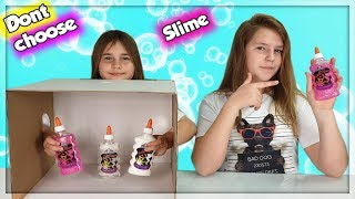 DON'T CHOOSE THE WRONG  SLIME INGREDIENTS CHALLENGE!