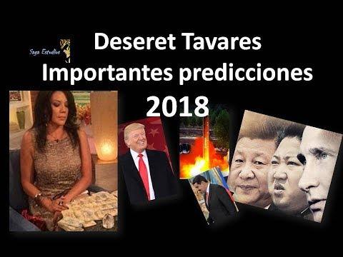 Deseret Tavares Importantes predicciones 2018, EEUU y mas
