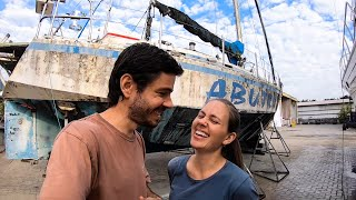 Tour of our Abandoned Sailboat (on the hard for 20 years) LTP#087