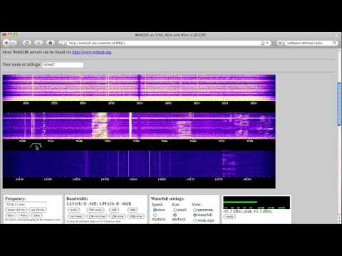 Test Driving WebSDR