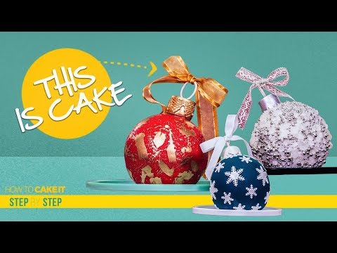 How To Make Christmas Ornaments out of CAKE | Step By Step Tutorial | How To Cake It | Yolanda Gampp