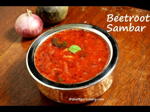 beetroot sambar recipe | Sambar recipe | Sambar powder recipe