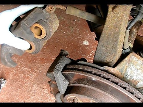 How to replace the front brake pads and rotors Ford F150. F250. Expedition and Navigator 1997-2003