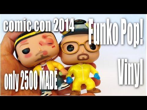 2014 SDCC: Funko Pop! BLOODY Jesse Pinkman & GLOW IN THE DARK Walter White