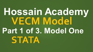 VECM. Model One. Part 1 of 3. STATA